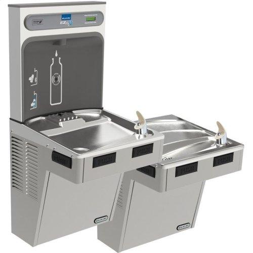 Elkay EZH2O Bottle Filling Station with Bi-Level ADA Cooler, Non-Filtered 8 GPH Light Gray