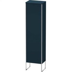 Tall Cabinet Floorstanding, Night Blue Satin Matt Lacquer