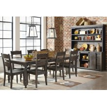 Madison County Ext Table With 8 Chairs - Barnwood