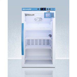 SummitPerformance Series Med-lab 3 CU.FT. Counter Height Glass Door All-refrigerator for Laboratory Storage With Factory-installed Data Logger