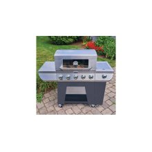 3-in-1 Stainless Five Burner Gas Grill