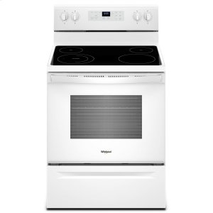 5.3 cu. ft. Freestanding Electric Range with Adjustable Self-Cleaning White - WHITE