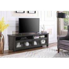 "Transitional Dark Grey 72"" TV Console"