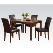 5pc Pk Din. W/faux Marble Top Product Image