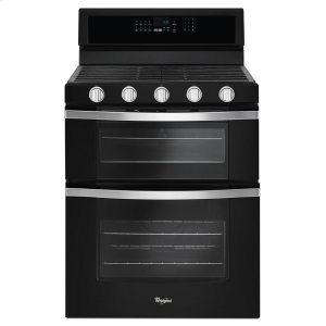 6.0 Cu. Ft. Gas Double Oven Range with EZ-2-Lift Hinged Grates - BLACK ICE
