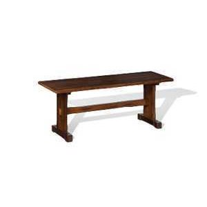 Santa Fe Side Bench with Wood Seat