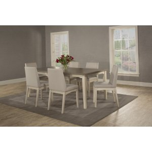 Hillsdale FurnitureClarion 7-piece Rectangle Dining Set With Upholstered Chairs - Sea White