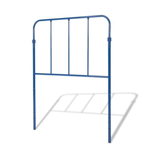 Nolan Fashion Kids Metal Headboard and Footboard Bed Panels with Fun Versatile Design, Cobalt Blue Finish, Full