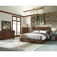 Rustic Brown Five-piece Bedroom Set