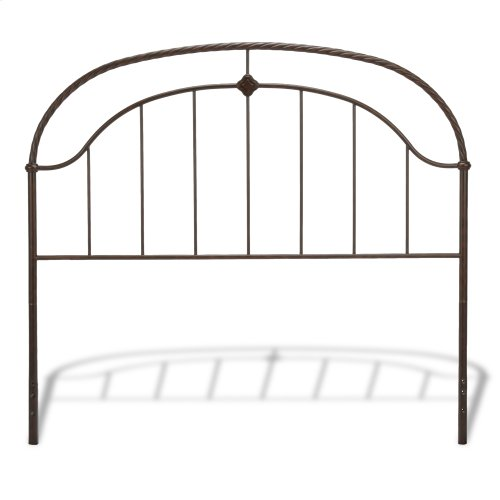 Cascade Complete Bed with Metal Panels and Twisted-Rope Rail, Ancient Gold Finish, Queen
