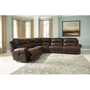 Ashley Furniture Luttrell - Espresso 5 Piece Sectional