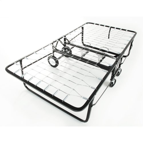 "Rollaway 1292 Folding Bed and 48"" Anti-Bacterial Fiber Mattress with Angle Steel Frame and Link Deck Sleeping Surface, 47"" x 75"""