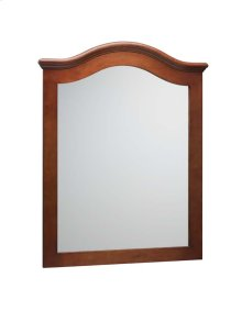 """Marcello Traditional 30"""" x 38"""" Solid Wood Framed Mirror in Colonial Cherry"""