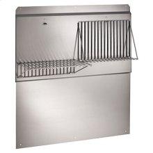 "60"" Backsplash with shelves in Stainless Steel"