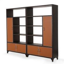 2 Piece Bookcase Unit