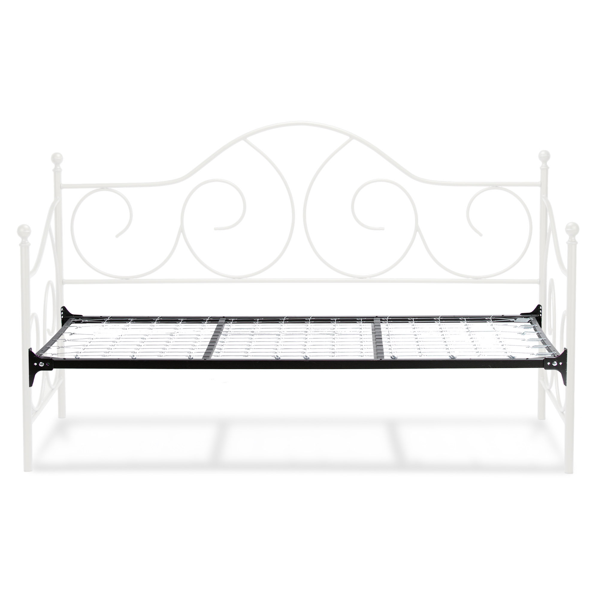 B10198fashion Bed Group Caroline Complete Metal Daybed With Link