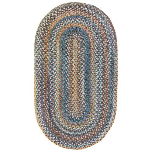 American Legacy Slate Blue Braided Rugs (Custom)