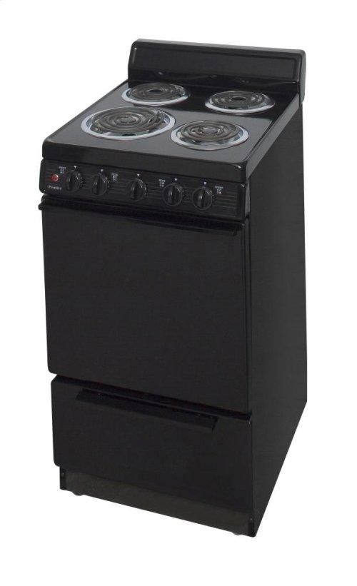 20 in. Freestanding Electric Range in Black