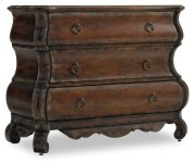 Living Room Three-Drawer Shaped Chest Product Image