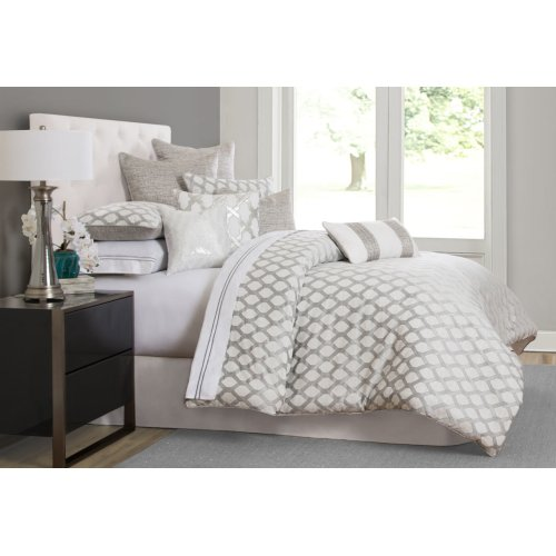 9pc Queen Comforter Set Platinum