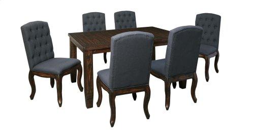 Trudell - Dark Brown 7 Piece Dining Room Set