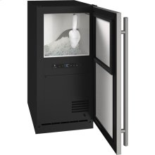 """Ada Collection 15"""" Nugget Ice Machine With Stainless Solid Finish and Field Reversible Door Swing, Pump Included (115 Volts / 60 Hz)"""