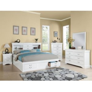 WH L.P III E. KING STORAGE BED
