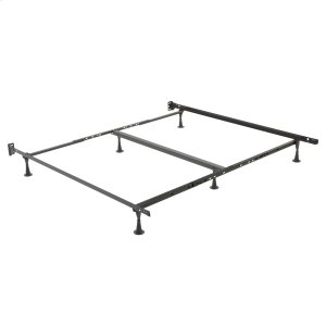 Leggett And PlattRestmore Adjustable PLK45G Posi-Lock Single Angle Cross Support Bed Frame with Headboard Brackets and (6) 2.5-Inch Glide Legs, Queen / Cal King / King