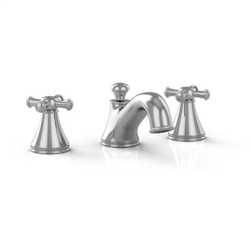 Vivian Widespread Lavatory Faucet with Cross Handles - Polished Chrome Finish