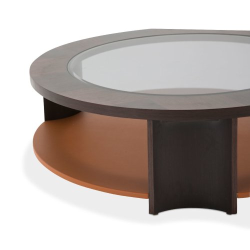 21 Cosmopolitan Round Cocktail Table Diablo Orange/umber