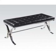 Black Pu/chrome Bench Product Image