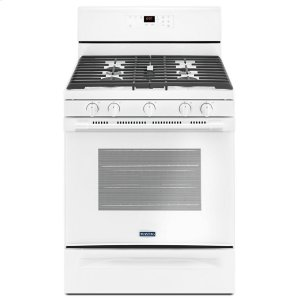 30-inch Wide Gas Range With 5th Oval Burner - 5.0 Cu. Ft. - WHITE