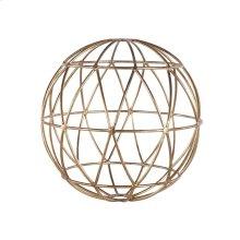 Gold Leaf 9 Inch Geometric Sphere.