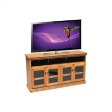 "O-T280 Traditional Oak 65"" TV Console"