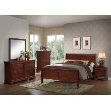 Louis Philippe Cherry Queen Bedroom Set