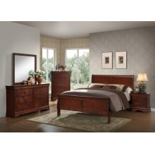 Louis Philippe Cherry Bedroom Set