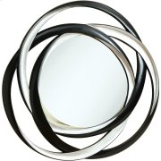 Transitional Black and Silver Mirror Product Image