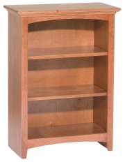 "GAC 36""H x 24""W McKenzie Alder Bookcase in Antique Cherry Finish Product Image"