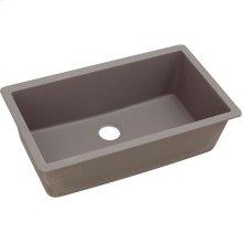 "Elkay Quartz Classic 33"" x 18-7/16"" x 9-7/16"", Single Bowl Undermount Sink, Greige"
