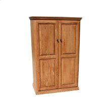 "Traditional Alder 24"" Full Door Bookcase"
