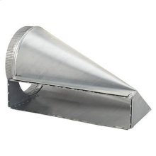"4-1/2 x 18-1/2 to 10"" Round Transition for Range Hoods and Bath Ventilation Fans"