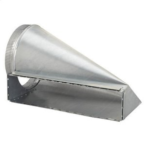 "Best4-1/2 x 18-1/2 to 10"" Round Transition for Range Hoods and Bath Ventilation Fans"
