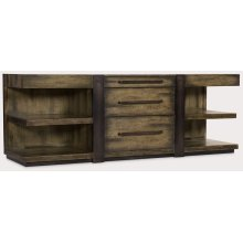 Home Office Crafted Leg Desk Credenza