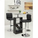 Contemporary Black and Chrome Adjustable Bar Stool Product Image