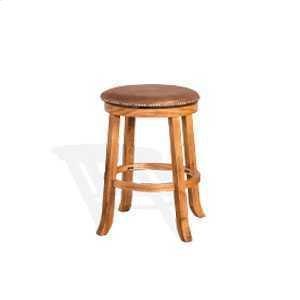 "Sunny Designs24""H Sedona Swivel Stool w/ Cushion Seat"