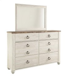 Joanna - Whitewash Dresser & Mirror