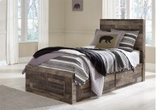 Derekson - Multi Gray 5 Piece Bed Set (Twin)