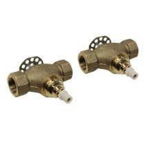 "Perrin & Rowe® Pair 1/2"" Valves Roughs For Wall Mount Cross Set"