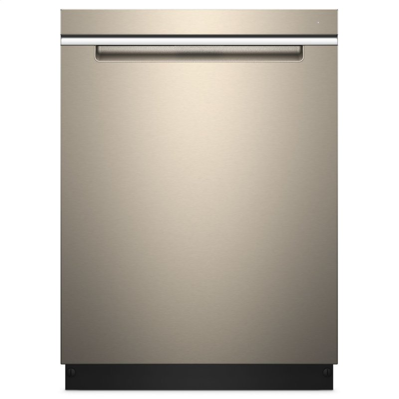 Stainless Steel Tub Pocket Handle Dishwasher with TotalCoverage Spray Arm Fingerprint Resistant Sunset Bronze