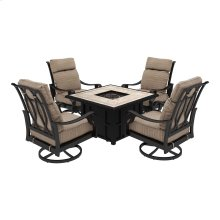 Chestnut Ridge - Brown 3 Piece Patio Set